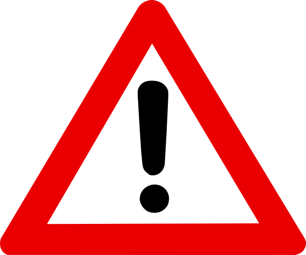 Red danger sign clipart 1